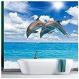 azutura Delphine Fototapete Blaues Meer Tapete Mädchen Schlafzimmer Badezimmer Wohnkultur Erhältlich in 8 Größen Extraklein Digital