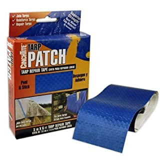 3 Wide x 6' Long Tarpaulin Blue Texture and Color Tarp Repair Tape by American Science & Surplus