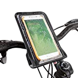 SATECHI RideMate Fahrradhalterung kompatibel mit iPhone 6, 5S, 5C, 5,Samsung EPIC, Galaxy S2, S3, S4, S5 und andere (WaterProof Black)