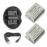 Newmowa Double USB Chargeur + 2 Batteries LP-E5 pour Canon EOS Rebel XS, Rebel T1i, Rebel XSi, 1000D, 500D, 450D, Kiss X3, Kiss X2, Kiss F, Canon LPE5
