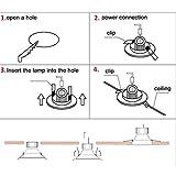 Liqoo Faretti LED Incasso 10×Luci da Incasso Cartongesso Plafoniere LED Soffitto Orientabile con...