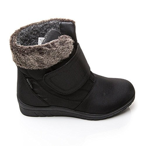 Cushion Walk Thermo-Tex Womens Comfort Fit Winter Boots - CW81 Black (6...