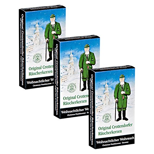 """3er Pack Crottendorfer Räucherkerzen """"Weihnachtlicher Weihrauch"""" 3 x 24 Stück, Räucherkegel, Weihnachtskerzen, Räucherpyramiden"""