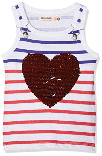Desigual TS_Regina, Camiseta para Niñas, Blanco (Blanco 1000), 128 (Talla del Fabricante: 7/8)