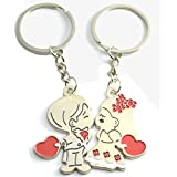 Love Forever Couple Gift With Cute Lover Kissing Couple Key Chain