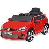SENLUOWX Kinderauto Elektroauto VW Golf GTI 7 rot 12 V Kinderfahrzeug Kinderauto mit Fernbedienung