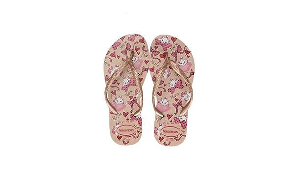 4a8fed371f0c2 Havaianas Kids Slim Marie Disney Flip Flop Size 7 To 3 (BR 35-36 UK 3 EU  37-38)  Amazon.co.uk  Shoes   Bags