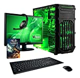 Vibox VBX-PC-5411 Ultra Paket 11SW 54,6 cm (21,5 Zoll) Gaming Desktop-PC (AMD A Series A8-7600, 16GB RAM, 1TB HDD, AMD Radeon R7, Win 10 Home) grün