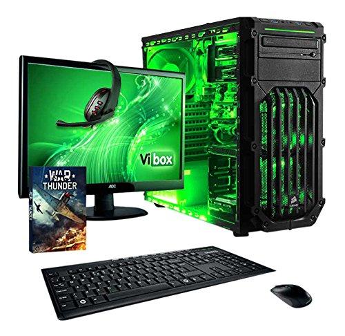 Vibox VBX-PC-5411 Ultra Paket 11SW 54,6 cm (21,5 Zoll) Gaming Desktop-PC (AMD A Series A8-7600, 16GB RAM, 1TB HDD, AMD Radeon R7, Win 10 Home) grün