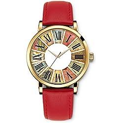 Uhren, 2015 neue Leder Mädchen Retro Römische Ziffern Colorful