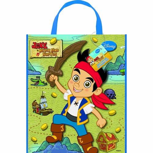 Unique Party Supplies Jake und die Nimmerland-Piraten Party Tasche, groß, 33cm x 28cm (Jake Taschen Kids)