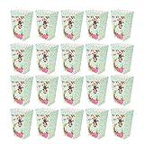 STOBOK Scatole di popcorn di carta animali della giungla Contenitori di popcorn per Forniture per feste di compleanno per bambini-24 pezzi