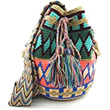 COLOMBIAN STYLE Bolsos Colombianos Artesanales de estampados unicos, mochila Wayuu tanto para mujer como para