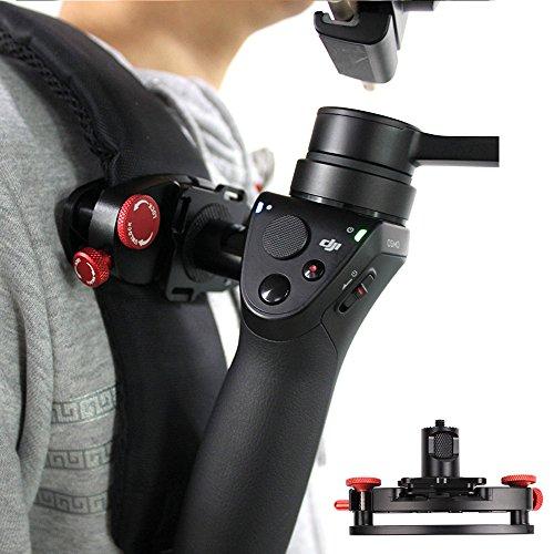 kingwon Rucksack Clip Halterung Zubehör Aluminium Legierung mit 1/4Adapter Quick Release für DJI Osmo Osmo + Osmo mobilen Handheld-Gimbal Kamera Halten zu Gurtband