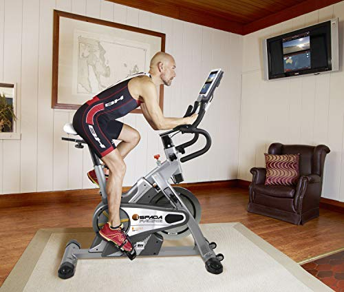 BH Fitness SPADA RACING DUAL + DUAL KIT WH930R Indoorbike Indoorcycling - PolyV-Riemen - 12 Programme - Magnetisches Bremssystem - SPD-Trekking-Pedale