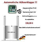 JOSTechnik Automatische Hühnerklappe JT-HK + Steckernetzteil + Klappe - Sonderaktion direkt vom Hersteller !