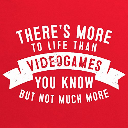 More To Life - Videogames T-Shirt, Herren Rot