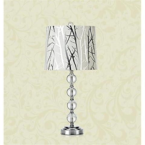 lusso continentale moderno e minimalista camera da letto comodino circolare sferico lampada di cristallo tavolo del salotto della lampada (tre opzioni di colore) ( colore : Albero d'argento Fiore Luce )