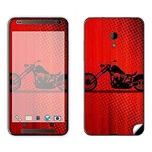 Skintice Designer Mobile Skin Sticker for HTC Desire 700, Design - Red Bike