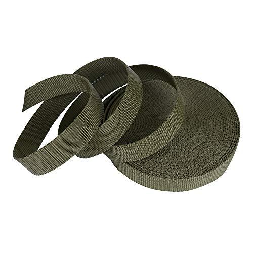 SUNTATOP PP Gurtband -Nylon Strapazierfähiges Gurtband -25mm breit -1,8mm- Armee Grün(UV) -