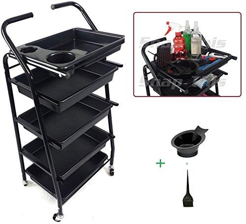 teknoh-4-salon-storage-trolley-high-gloss-black-finish-with-free-colour-mixing-dye-tint-bowl-brush-h
