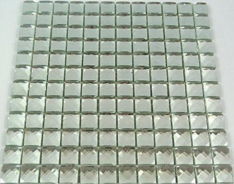 Tiles mosaic tile square crystal glitter Border White 8mm # 453
