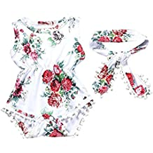 Vestidos Bebé, Switchali Recién nacido Bebé Niña verano Floral Mono moda Mameluc