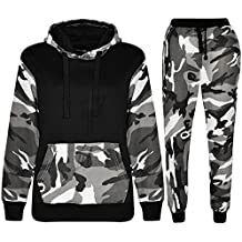 6574034b6bb ... jogging garcon 14 ans. Kids Sports Military Camouflage Hododied  Tracksuit 2 piece Contrast