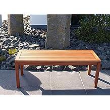 Hockerbank 2-sitzer aus geöltem Eukalyptusholz, Maße: B/H/T ca. 120/45/40 cm