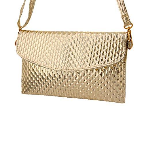 Multi-mo , Damen Schultertasche Silber silberfarben gold