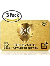 Carte Anti RFID/NFC protezione carte credito senza contatto, 1suffit, fini le custodie e buste, il portafoglio è completamente protetto, Carte di Credito, Carte Blu, CB, passaporto. Regalo Noel