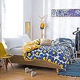 Cubierta moderna del edredón del estilo minimalista cubierta del edredón del algodón del plantas y flores cubierta de edredón-H 180x220cm(71x87inch)