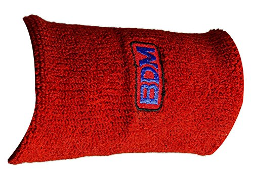BDM Cricket Red Long-Handgelenk-Band Sports Cotton Compression Wrap Armband (Cricket Red)