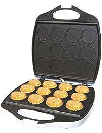 DCG Eltronic WA2210 máquina para madalenas y donuts - Máquina para hacer alimentos (1400W, 230V, 50 Hz) Negro, Color blanco
