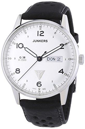 Junkers Herren-Armbanduhr XL G 38 Analog Quarz Leder 69441