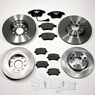 Autoparts-Online Set 60010599 Bremsscheiben 1LJ 1KY/Bremsen + Bremsbeläge für Vorne + Hinten