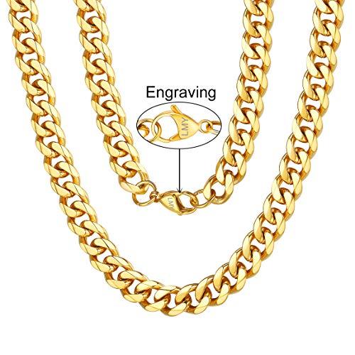 ChainsPro Collier Damen Edelstahl 925 Sterling Silber Halskette ohne Anhänger Herzkette - 3mm bis 12 mm Breite - Verschiedene Längen: 46 55 66 71 76 cm