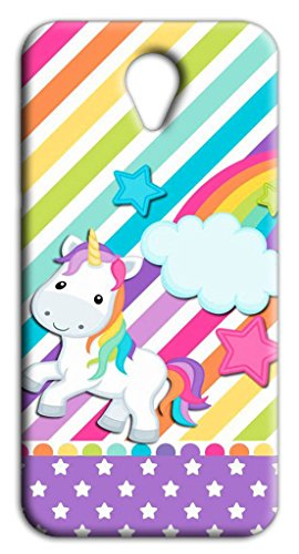 Mixroom - Cover Custodia Case In TPU Silicone Morbida Per Meizu M5S S279 Unicorno Arcobaleno