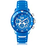 Ice-Watch - ICE aqua Skydiver - Blaue Herrenuhr mit Silikonarmband - Chrono - 001460 (Medium)