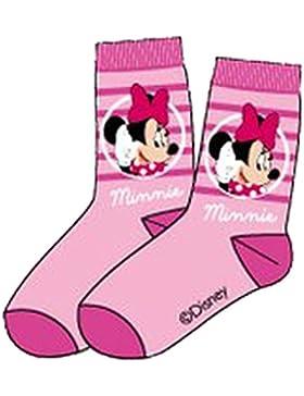 Disney Minnie Maus Socken in Pink, Rosa, Grau oder Rosa-Weiß Gr. 23-26, 27-30, 31-34, 35-37