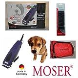 Rotschopf24 Edición! Fuerte Moser Premium Esquiladora para perro 1233 REX + 6 Canutillos de plástico Sucherelektronischer