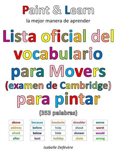 Lista oficial del vocabulario para Movers (examen de Cambridge) por Isabelle Defévère
