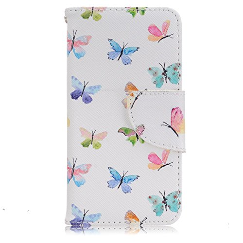 Meet de pour Apple iphone 5C Ultra Slim Flexible Transparent Soft Case / Housse / Portefeuille / Cover Étui / Housse étui - arbre blanc multi papillon
