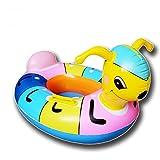 APig colorato Ant bambini anello di nuoto gonfiabile galleggiante Sedile con maniglie, Diametro interno 30cm Diametro esterno 60cm, misura per 1-5 anni i bambini