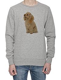 Perro Del Caniche Hombre Gris Sudadera Saltador Camisa De Rntrenamiento | Men's Grey Sweatshirt Jumper