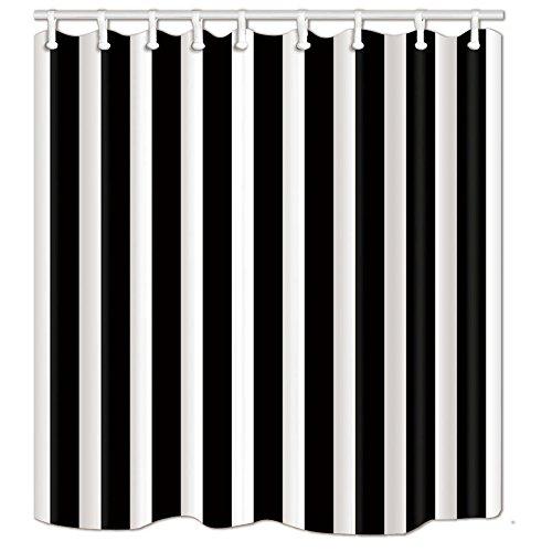 nymb schwarz und weiß Streifen Thema Bad Vorhang Polyester-175,3x 177,8cm Schimmelresistent-Dusche Vorhänge Fantastische Dekorationen