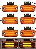 8x 24V LED arancione neon Outline marcatore luci laterali con staffe per rimorchio telaio camion caravan Bus