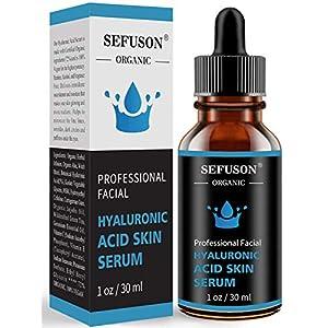 Hyaluronic Acid Serum, Best Pure Hyaluronic Acid Moisturiser for Face, Anti Ageing & Anti Wrinkle Moisturiser Hyaluronic Acid Serum, Fine Lines & Sensitive Skin,Improve Age Spots-1floz(30ml).