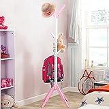 QYQYMJ Kinder Einfache Mode baumförmigen Massivholz Kleiderständer Kinder Kiefer Aufhänger Tasche Halter (Farbe : B)