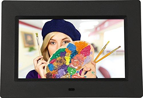 """Rollei Degas DPF-700 - Digitaler Bilderrahmen mit 7.0"""" (17,8 cm) TFT-LED Panel, Uhrzeitanzeige, Kalenderfunktion, Diashow und Dreh-Funktion, inkl. Fernbedienung - Schwarz"""